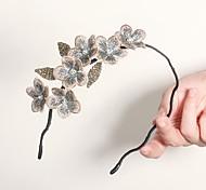 abordables -Mariage Mariée Tissu de broderie à main Casque avec Fleur 1 Pièce Mariage / Occasion spéciale Casque