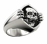 economico -deyatt vintage punk gothic skull anello da uomo 925 sterling silver placcato scheletro testa biker anelli per gli uomini (7)