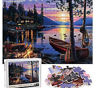 abordables -1000 pcs Paysage Puzzle Jouet Educatif Cadeau Adorable Jouets de décompression Interaction parent-enfant Papier carton Adolescent Adulte Jouet Cadeau