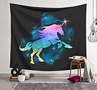 abordables -Tapisserie murale art décor couverture cheval rideau suspendu maison chambre salon décoration polyester couleur licorne