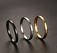 economico -Anello Nero Oro Argento Acciaio e tungsteno Semplice Classico 1 pc 6 7 8 9 10 / Per donna