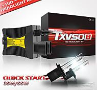 abordables -TXVSO8 Automatique Xénon HID Lampe Frontale H10 / H9 / H7 Ampoules électriques 5500 lm 55 W Pour Universel Tous les modèles Toutes les Années 2 pièces