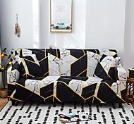 abordables -Housse de canapé extensible imperméable à la poussière tout-puissant imprimé noir Housse de canapé en tissu super doux avec une taie d'oreiller gratuite
