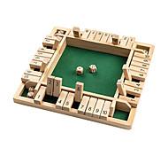 abordables -fermez la boîte jeu de dés en bois (2-4 joueurs) pour enfants adultes grand jeu de société en bois à 4 faces 8 dés fermez la boîte règles jeu amusant pour apprendre plus 12 pouces