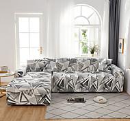 abordables -1 pc housse de canapé géométrique noir lignes blanches élastique salon canapé pour animaux de compagnie housse de protection inclinable