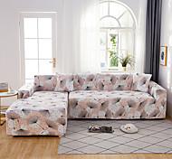 abordables -Housse de canapé en forme de L extensible Housse de canapé en tissu super doux avec une taie d'oreiller gratuite