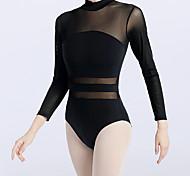 economico -Danza classica Calzamaglia / Pigiama intero Più materiali Per donna Addestramento Prestazioni Manica lunga Naturale Chinlon Retato Elastene