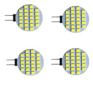 economico -4 pezzi 2 W Luci LED Bi-pin 280 lm G4 24 Perline LED SMD 2835 Bianco caldo Bianco 9-30 V