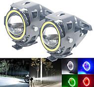 economico -1pc angel eyes faretti 12v-80v u7 led per auto universale luce drl faro moto lampada ausiliaria interruttore di guida strobo
