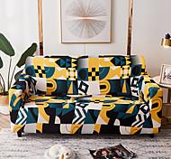 abordables -Housse de canapé géométrique lignes colorées housse de canapé élastique au salon canapé pour animaux de compagnie housse de protection inclinable housse de canapé