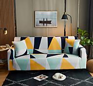 abordables -lignes géométriques imprimer housses extensibles anti-poussière housse de canapé inclinable extensible pour animal de compagnie de salon