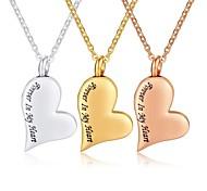 economico -Per donna Per uomo Collane con ciondolo Collana di medaglioni Acciaio al titanio Oro rosa Oro Argento 50 cm Collana Gioielli 1 pc Per / collana lunga