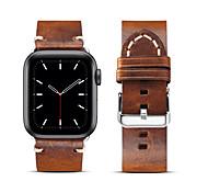 economico -Cinturino intelligente per Apple  iWatch 1 pcs Banda di affari Vera pelle Sostituzione Custodia con cinturino a strappo per Apple Watch Serie 6 / SE / 5/4 44 mm Apple Watch Serie 6 / SE / 5/4 40mm