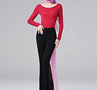 abordables -Costumes de Danse Haut Couleur Unie Fantaisie Femme Entraînement Usage quotidien Manches Longues Taille moyenne Capitale