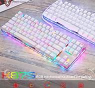 economico -motospeed k87s tastiera meccanica da gioco usb cablata 87 tasti con retroilluminazione rgb interruttore rosso / blu per pc computer gamer