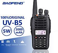 abordables -Baofeng uv-b5 UHF / VHF 400-480 / 136-174MHz double bande fm bidirectionnelle talkie walkie radio émetteur-récepteur interphone