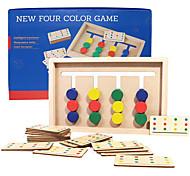 economico -giocattoli per l'apprendimento prescolare educazione montessori giocattoli di smistamento dei colori puzzle scorrevoli in legno rompicapo di abbinamento scorrevole gioco logico regalo per i bambini