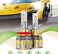 abordables -OTOLAMPARA Automatique LED Lampe Frontale / Voiture Canbus Light H13 / 9007 / H7 Ampoules électriques 11000 lm LED Intégrée 120 W 2 Pour Volkswagen / Toyota / Nissan Voyou / Silverado / CR-V 2018