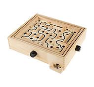 abordables -jeu de labyrinthe en bois avec deux billes d'acier jeu de puzzle pour adultes garçons et filles par hey! jouer!