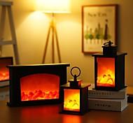 abordables -effet de flamme lumière maison décoration vintage halloween cadeaux de noël décoration de nouvel an lumière led flamme lampes cheminée lanterne