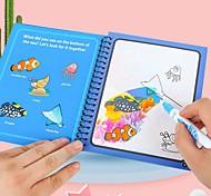 abordables -4 pièces livre de dessin d'eau magique livre de coloriage stylo magique peinture planche à dessin pour enfants jouets cadeau d'anniversaire répété resuable graffiti