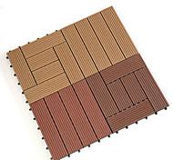 economico -pavimento in plastica di legno protezione ambientale pe plastica legno impiombatura pavimento anticorrosivo e impermeabile per esterni 30 * 30 * 2