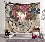 abordables -Tapisserie murale art décor couverture rideau suspendu maison chambre salon décoration polyester crâne libellule papillon