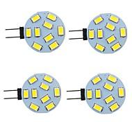 economico -4 pezzi 2 W Luci LED Bi-pin 260 lm G4 9 Perline LED SMD 5730 Bianco caldo Bianco 9-30 V