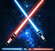 abordables -Guerrier Eclairage LED Sabres Laser Jouets Lumineux Transformable Brillant Enfant Adultes pour des cadeaux d'anniversaire et des cadeaux 2 pcs