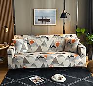 abordables -Peinture de paysage impression housses tout-puissantes anti-poussière Housse de canapé extensible Housse de canapé en tissu super doux avec une taie d'oreiller