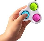 abordables -fidget jouets porte-clés coloré simple fossette anti-stress anti-stress autisme a besoin anti-stress popit jouets arc-en-ciel pour adultes