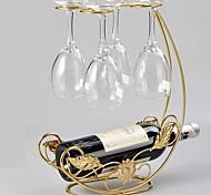 economico -Progettato speciale Bicchieri Portabottiglie da vino Ferro battuto 1 pc Accessori per vino da bar