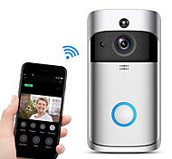 economico -HQCAM Smart Wireless Wifi doorbell Camera Intercom Door Bell Video doorbel Call Apartments IR Max support 32G TF +Wireless chime 1 mp Videocamera IP Al Coperto Supporto 0 GB / CMOS / SO iPhone