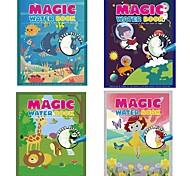 abordables -Livre de dessin magique de l'eau à colorier Doodle Livres de dessin magiques réutilisables