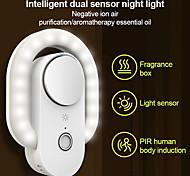abordables -M8 intelligent corps humain induction veilleuse ion négatif lampe de purification de l'air usb batterie charge aromathérapie veilleuse pour la maison