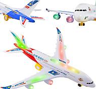abordables -Vacances Anniversaire Avion Eclairage LED Jouets Lumineux Kit de construction de modèles Musique Noctilumineux Electrique Avec commutateur Enfant pour des cadeaux d'anniversaire et des cadeaux
