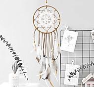 abordables -attrape-rêves plumes décoration traditionnelle attrape-rêves à la main ornement suspendu maison chambre et voiture (fleur ajourée)