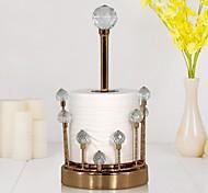 economico -portafazzoletti da tavolo creativo scatola di fazzoletti di cristallo sala da pranzo soggiorno porta rotolo di carta verticale in metallo