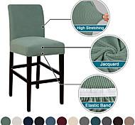 abordables -couverture de tabouret de bar extensible couverture de tabouret de comptoir chaise de pub housse pour salle à manger café tabouret de bar slipcover meubles amovibles couverture de siège jacquard tissu