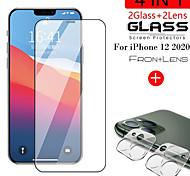 economico -telefono Proteggi Schermo Apple iPhone 12 iPhone 11 iPhone 12 Pro Max iPhone 11 Pro iPhone 11 Pro Max Vetro temperato 1 pezzo Alta definizione (HD) Durezza 9H A prova di esplosione Proteggi lente