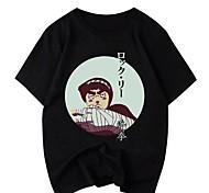 abordables -Inspiré par Naruto Cosplay Costume de Cosplay Manches Ajustées Microfibre Imprimés Photos Imprimé Tee-shirt Pour Femme / Homme