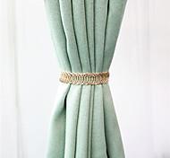 economico -Tendaggi decorativi con fibbia per tende con cinturino a molla in stile lusso 1 pezzo