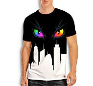 abordables -T-shirt Homme Imprimés Photos Œil Impression 3D Imprimé Quotidien Manches Courtes Hauts Simple Designer Grand et grand Noir / Blanc