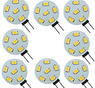 economico -8 pezzi 2 W Luci LED Bi-pin 200 lm G4 6 Perline LED SMD 5730 Bianco caldo Bianco 9-30 V