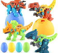 abordables -démonter les jouets de dinosaures pour garçons ensemble de jouets de construction avec perceuse électrique kit de jeu d'ingénierie de construction apprentissage de la tige pour enfants filles de 3 ans