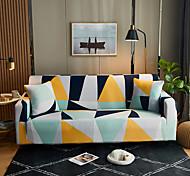 abordables -Triangle coloré imprimé housses tout-puissantes anti-poussière housse de canapé extensible housse de canapé en tissu super doux avec une taie d'oreiller gratuite