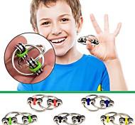 economico -2 pezzi autismo adhd anti stress giocattoli per adulti fidget portachiavi mano spinner fidget cuscinetto tri-spinner giocattolo in metallo per adulti e bambini