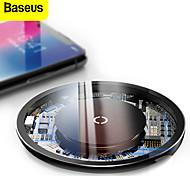 abordables -chargeur sans fil transparent baseus 10w pad de chargement visible sans fil rapide sûr pour téléphones intelligents compatibles qi pour iphone 12 11 se 2020 pour samsung galaxy s21 s20 huawei p40 pro