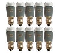 economico -0.8 W 10 pezzi 50 lm Lampadine globo LED E14 6 Perline LED Decorativo SMD 3014 12 V Bianco