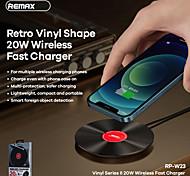 economico -Remax 20 W Potenza di uscita Pad di ricarica wireless Caricatore senza fili Ricarica veloce Zero Per Cellulare Apple iPhone 12 11 pro SE X XS XR 8 Samsung Glaxy S21 Ultra S20 Plus S10 Note20 10